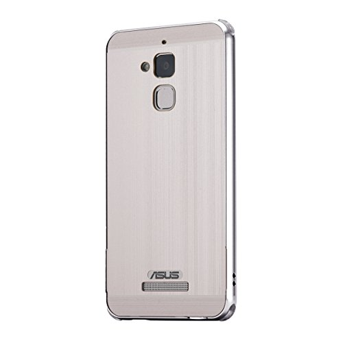Asus ZenFone 3 Max ZC520TL Case, Forhouse Hard PC Back Design Thin Metal Frame Bumper Case with [Mirror Effect] Anti-Drop Shock-Absorption Shatterproof Cover (Silver)