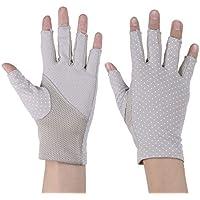 HEALIFTY Guantes de protección solar con medio dedo Guantes de protección UV Manopla para montar 1 par (gris)