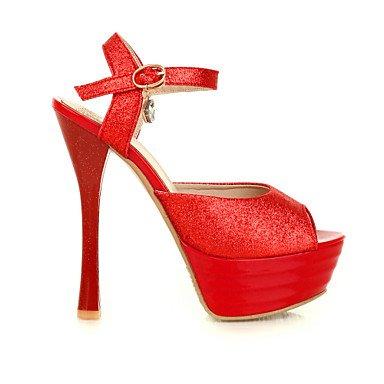LvYuan Da donna-Sandali-Casual-Altro-A stiletto-Materiali personalizzati-Rosso Argento Dorato Gold