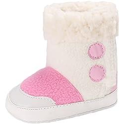EOZY-Stivali da Neve Bambina Boots Scarpe Primi Passi Neonata Bimba (13cm, Rosa)