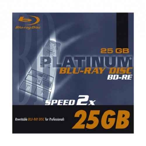 Platinum 25 GB BD-R Blu-ray-Rohling (2x Speed) in 1er Jewel Case Platinum Dvd-rw