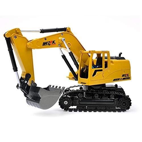 Mini Excavadora Juguete 1:24 Aleación Inalámbrico Remoto Control Ingeniería Excavadora