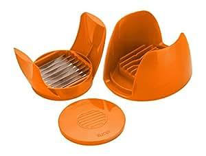 Amiraj Unbreakable Plastic Tomato Slicer, Orange