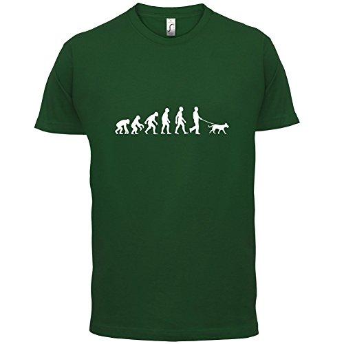 Evolution of Man - Hundebesitzer - Herren T-Shirt - 10 Farben Flaschengrün