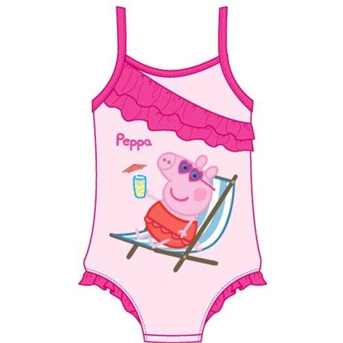 Costume mare peppa pig disney 1 pezzo intero bambina rosa taglie 2-4-6 anni