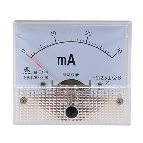 ZCHXD 85C1-A Analog Current Panel Meter DC 30mA Ammeter for Circuit Testing Ampere Tester Gauge 1 PCS -