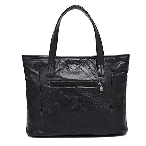 Borse In Pelle Borsa Handicap Portatile Con Handbag Portatile Con Grande Capacità,Black Black