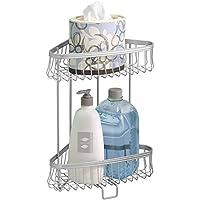 mDesign Estantes para ducha con estructura de pie – Prácticas baldas para  baño con 2 niveles a0eecb9f6e4f