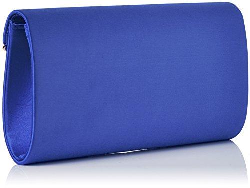 Swanky Swans Damen Kim Metallic Envelope Bag Clutch, 5x12.5x21.9 cm Blau (Royal Blue)