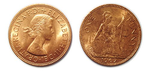 Sammlermünzen - 2 One Penny-Münzen von 1967