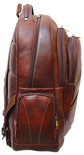 BRAND LEATHER 20 Ltrs Brown Leather Laptop Backpack Image 3
