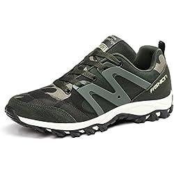 Otoño y formación de camuflaje verde militar invierno zapatos zapatillas de deporte de deslizamiento amantes de zapatos resistentes , army green , 39