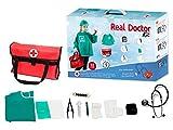 Otuli Arztkoffer 12-teilig Arzt-Kostüm Arztkittel funktionierende Werkzeuge wie Stethoskop Thermometer Arztstempel Spritzen für Kinder ab 5 Jahren