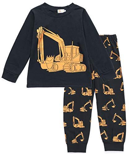 Tarkis Jungen Pyjama Schlafanzüge Lange Zweiteiliger Schlafanzug, 1, 92  (Herstellergröße: 90) - 2 Stück Fleece-schlafanzug