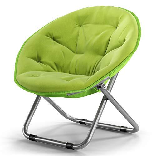 Klappstuhl Gartenstuhl Großer erwachsener Mond-Untertassen-Campingstuhl Sun-Stuhl-fauler Stuhl-Radar-Stuhl Recliner-Klappstuhl-runder Stuhl-Sofa-Stuhl für Kinder Erwachsene Faltbare und einfache Aufbe