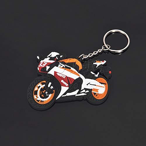 FASHLADY Modelo de la Motocicleta Llavero Llave del sostenedor del Anillo de Goma Llavero Chaveiro para Yamaha Honda CBR RR Accesorios 93 Circuito de Carreras: 3