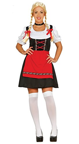 Dirndl Trachtenkleid Tracht Deutsche Frau Damen Bavarian Bayern Mittelalter Dorf Markt Kostüm Gr. M-L, Größe:XL ()