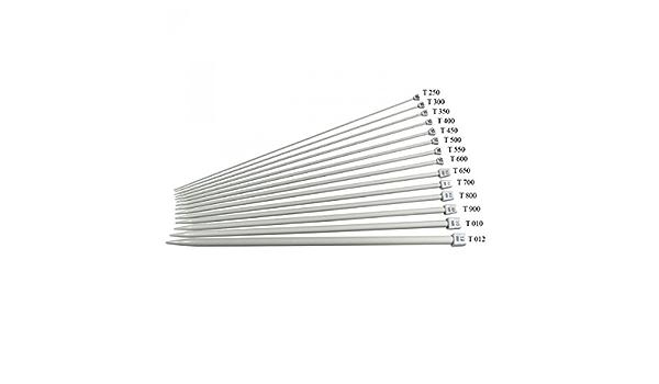Ferri per lavori a maglia cm 40 alluminio n 3 knitting needles 4030