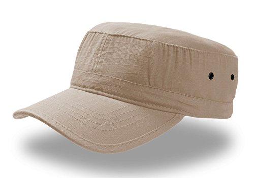 Army Ribstop Mütze Hut Militärische Vasco Cap Chapeaux 100% Baumwolle Unisex, unisex - erwachsene, Kaky (Militärische Kleidungsstücke)