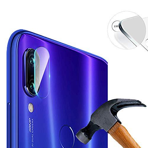 Lusee 2 x Pack Kamera Schutzfolie Linsenschutz für Xiaomi Redmi Note 7 Pro 6.3 Zoll Echtglas Tempered Glass Bildschirm Schutz Folie