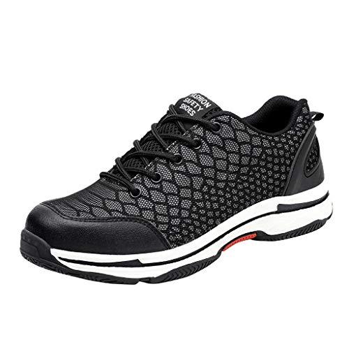 Herren Damen Arbeitsschuhe, Paar Sicherheitsschuhe Outdoor Sportschuhe Mesh Labour Insurance Sneaker Atmungsaktiv Sicherheit Deodorant Stahlkappe Leuchtende Schuhe -
