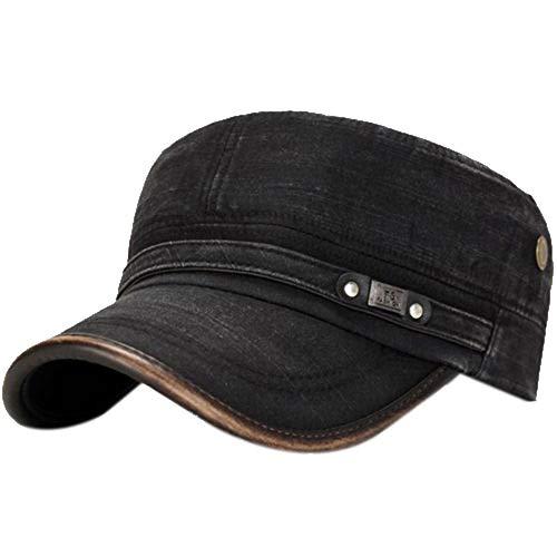 Demarkt Military Army Cap Herren Vintage Militär Mütze Verstellbar Armymütze Baumwolle Baseball Cap Kappe (D) -