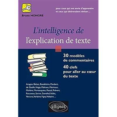 l'Intelligence de l'Explication de Texte. 30 Modèles de Commentaires, 40 clefs pour Aller au Coeur du Texte