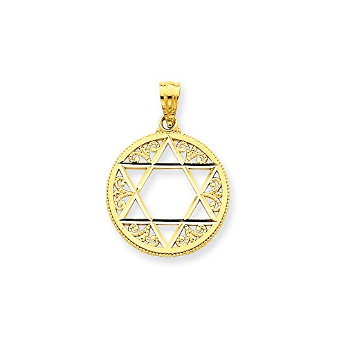 IceCarats Designer Jewellery 14K Filigree Star Of David Pendant