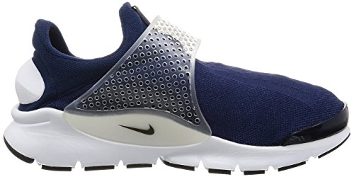 Nike Womens Sock Dart Textile Trainers mid navy/blk-mdm gry-white