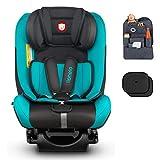 Auto-Kindersitz LIONELO SANDER ISOFIX 0-36 kg Türkis Drehsitz + Organizer + Sonnenblenden