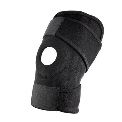 Giø pour le genou Unisexe–Taille réglable Compatible avec tous les–Idéal pour la course à pied, Basketball, football, d'équitation, escalade et de nombreux autres sports–L'arthrite et blessures sportives