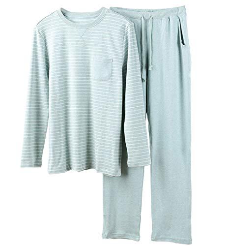 Pyjamas, Die MäNner Und Frauen Verdicken, Stricken, Gestreifte Baumwollkleidung Zu Hause,L -