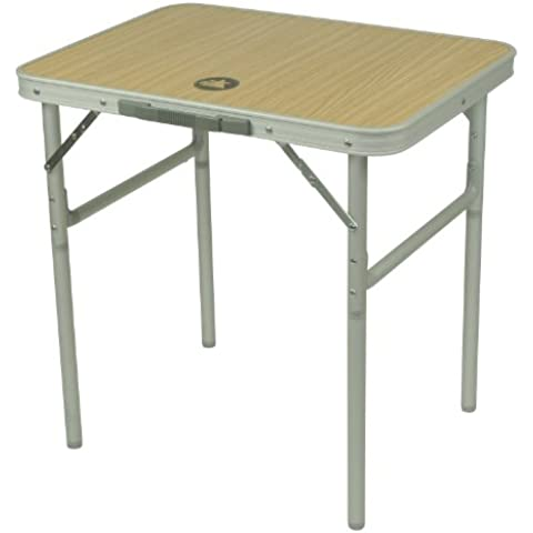 10T porTABLE Single - Mesa para camping (60 x 45 x 59 cm), color plateado