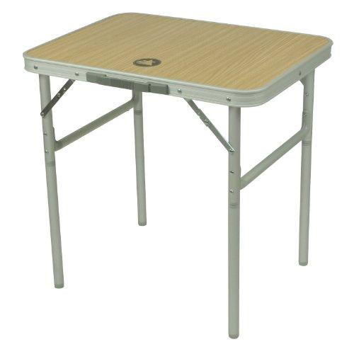 10T Portable Single Alu Campingtisch 60x45cm Klappkoffertisch mit stabiler MDF Platte bis 30kg...