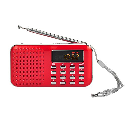 Docooler radio fm altoparlanti portatili fm radio portabile con display lcd supporto lettore u disco e micro sd card aux mp3 support usb drive tf card aux-in earphone-out
