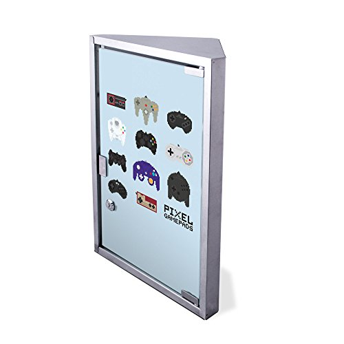 Edelstahl Medizinschrank Eckschrank abschließbar 30x17,5x45cm Badschrank Hausapotheke Arzneischrank Bad Gamepads