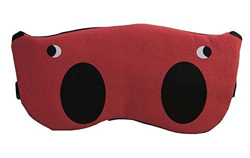 Masque d'oeil rouge pour le sommeil ou le voyage