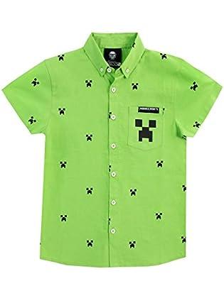 Minecraft Camisa para niño Creeper Verde 10-11 ...