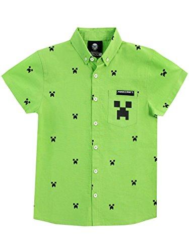 Minecraft camicie a maniche corta per ragazzi creeper verde 12-13 anni