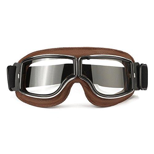 Wooya Fliegende Roller ATV Brille Motorradhelm Brille Winddicht Kaffee Frame-Klar