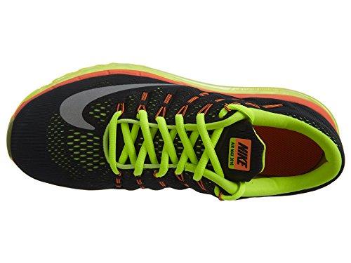 Nike Air Max 2016 (Gs), Chaussures de Running Entrainement Homme Noir (Black (noir / argent-volt-Reflect pleine orange))