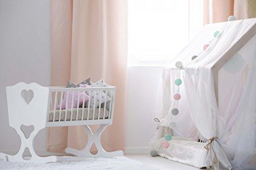 Lichterkette 'Babyzimmer' mit 20 Kugeln aus Baumwolle – Cotton Ball Lights, innen - 3