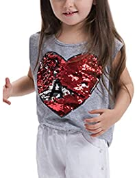 COMVIP - Camiseta de tirantes - Ajustada - Básico - Sin mangas - para niña