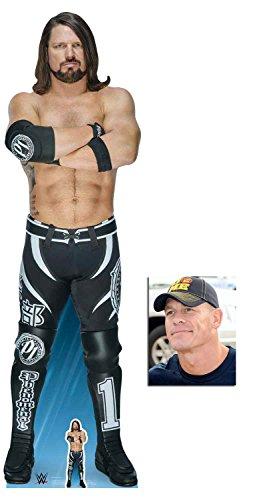 (BundleZ-4-FanZ AJ Styles WWE Wrestler Lebensgrosse und klein Pappfiguren/Stehplatzinhaber/Aufsteller - Enthält 8X10 (25X20Cm) starfoto)