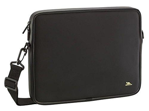 Riva Schutz Tasche Hülle Sleeve Case Cover mit Schulter Gurt in Schwarz für Sony Vaio VPC-YA
