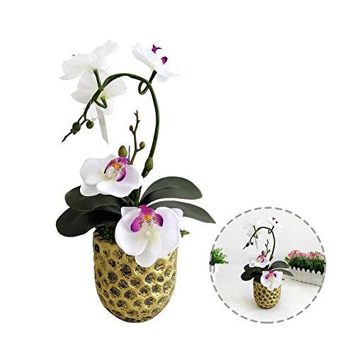 HEIRAO Künstliche blumentopf Mini gefälschte Blume Ornamente Butterfly Orchidee kleine topfpflanzen