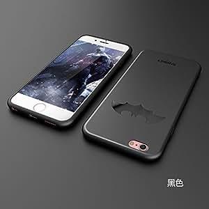 BANSKEY Batman ; Ironman & Superman trasparente in poliuretano termoplastico per iPhone-Cover per Apple iPhone 5, 5S, 5C, 6/6S , 6+,7 (iphone 6/6s, Black)