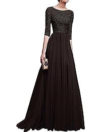 Donna Chiffon Vestito Lungo Abito da Cerimonia Elegante Vestiti da  Matrimonio Lunghi Vestito Formale Banchetto Sera e2fd244f328