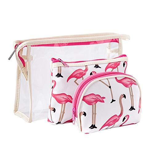 Bolsas de Aseo, RUISIKIOU 3 Sets Bolsa de Viaje de PVC Artículos de Aseo Kit de Maquillaje cosmético Cartera Transparente pequeña para Mujer