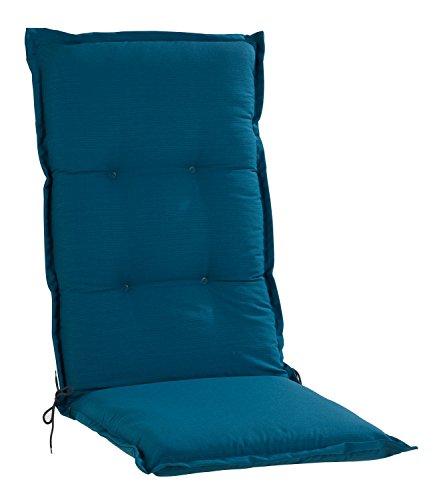 Sesselauflage Sitzpolster Gartenstuhlauflage für Hochlehner PETRO 1 | 50x120 cm | Petrol
